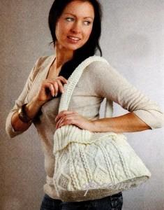 вязаная сумка спицами