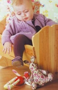 вязаный жакет для малыша