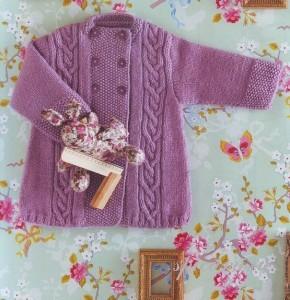 вязаное пальто для малыша