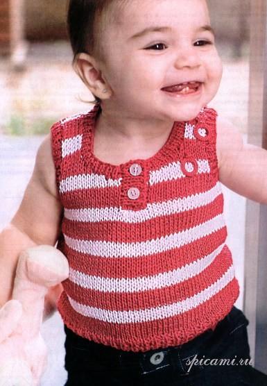 Вязаный топ для малыша