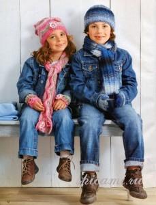 шапочка и шарф для детей