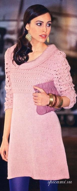 Платье с кружевной верхней частью