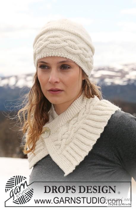 Шапочка и шарфик с косами