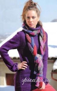 вязаный шарф и свитер