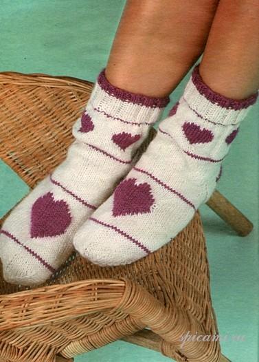 Вязаные носки — подарки на Новый год