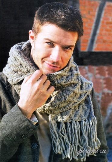 Джемпер и шарф для мужчины