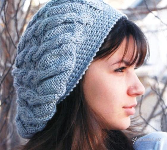 Вязаные шапки спицами схемы | Своими руками