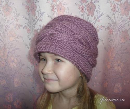 Вязаные шапочка и шарфик