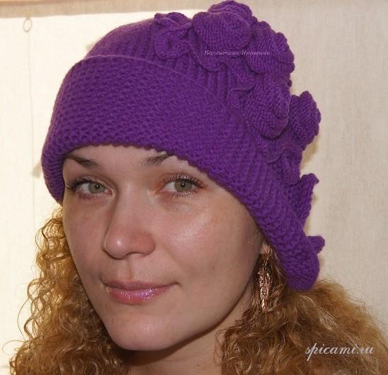 Вязаная шляпка в стиле 30-х