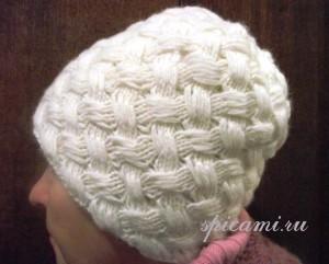 шапочка плетенка