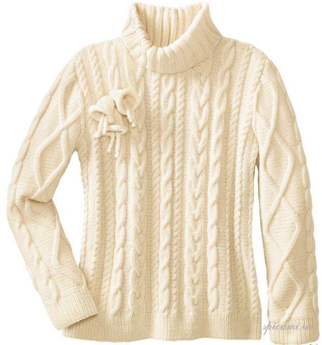 Вязаный свитер (модели женские и мужские)