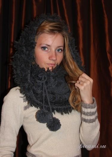 Многофункциональный шарф-воротник-перелина-капор