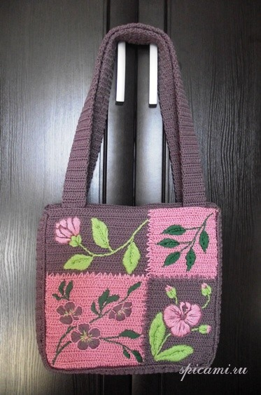 Летняя сумка «Le jardin rose » — Розовый сад