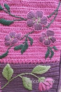вышивка на сумке