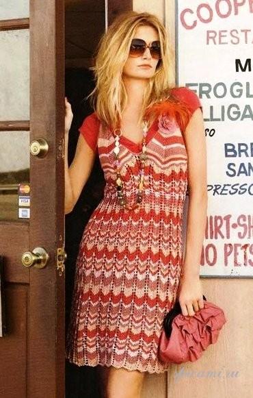 Вязаные платья на лето с описанием (подборка спицами)