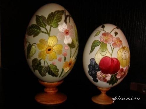 Вышивка пасхальных яиц