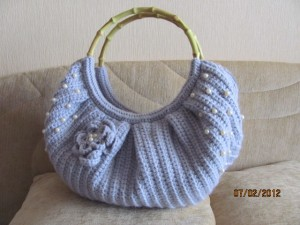 вязаная сумочка тучный мешок