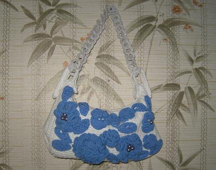Летняя сумочка «Гжель»