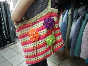 сумка крючком с цветами