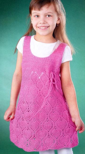 Вязаные туники для девочек спицами со схемами и описанием