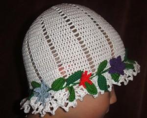 шапочка на лето крючком