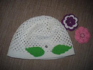 шапочка для девочки крючком