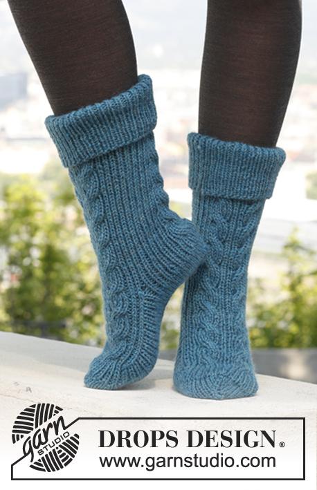 Вязаные носки «Лестница в рай»