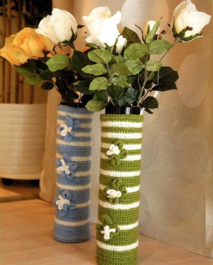 Вязаные вазы