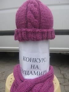 шапка спицами с косой
