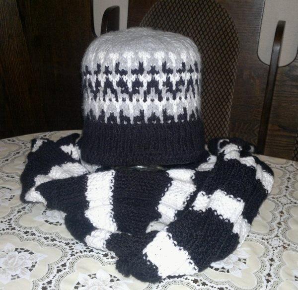 Мужской шарф и шапочка