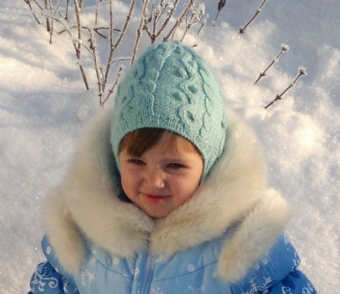 Детская шапочка ушанка