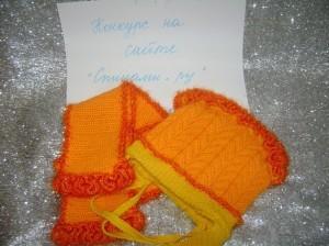 вязаная шапочка и шарфик для ребенка