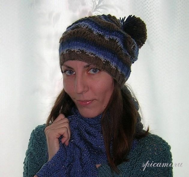 Спортивная шапочка и длинный шарф