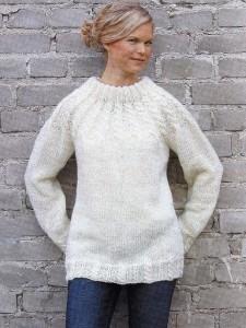 вязаный пуловер с описанием