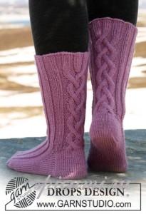 вязаные носки спицами с описанием