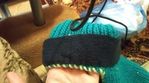 флисовый подклад у шапочки