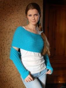 вязаный шарф-свитер
