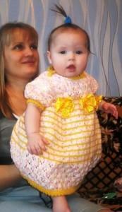 платье для девочки на 3-5 месяцев своими руками