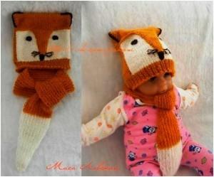 вязаная шапочка и шарфик для малыша