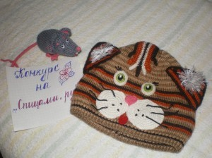 шапочка котенок вязаная