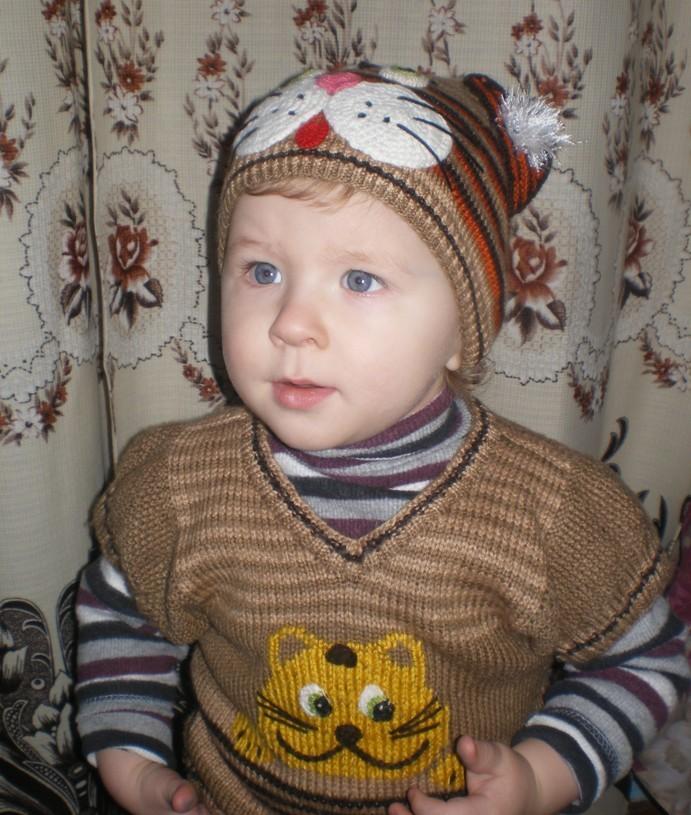 Новогодний костюмчик «Котёнок» для мальчика 1,5-2 лет