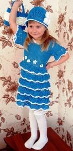 красивое платье крючком для девочки
