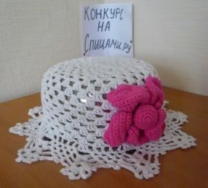 вязаная шляпка крючком для девочки