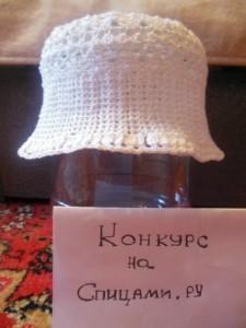 вязаная ажурная шапочка на лето