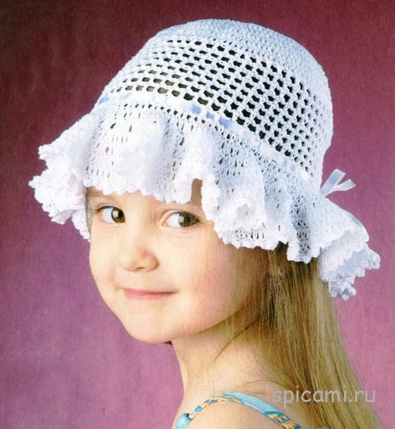 Панамки и шапочки на лето для детей с описанием