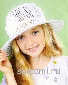 шляпка для девочки крючком