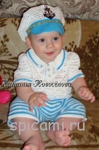 костюмчик для мальчика крючком морячок