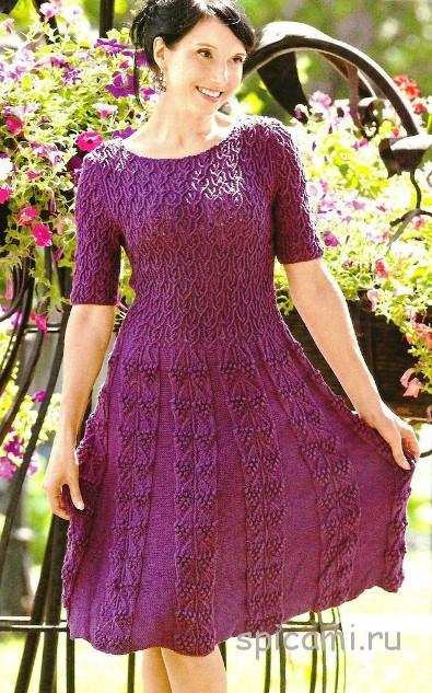 Вязаные платья на осень