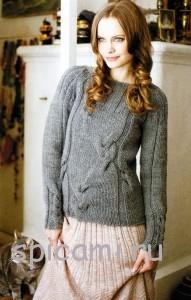 пуловер спицами с описанием