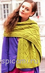 вязаный шарф спицами с описанием